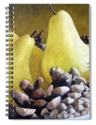 Golden Pears And Pine Cones Spiral Notebook