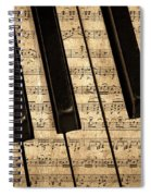 Golden Pianoforte Classic Spiral Notebook
