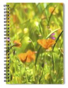 Golden Poppies In A Gentle Breeze  Spiral Notebook