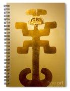 Golden Pre-columbian Figure Spiral Notebook