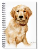 Golden Pup Spiral Notebook