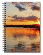 Golden Rays Spiral Notebook