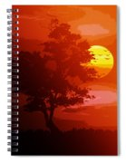 Golden Rays Of The Sun  Spiral Notebook