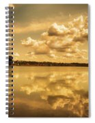 Golden Reflections At Moses Lake Spiral Notebook