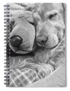 Golden Retriever Dog And Friend Spiral Notebook