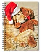 Golden Retriever Dog Christmas Teddy Bear Spiral Notebook