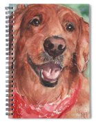 Golden Retriever Dog In Watercolori Spiral Notebook