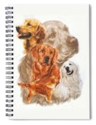 Golden Retriever W/ghost Spiral Notebook
