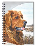 Golden Retriever With Marsh Scene Spiral Notebook