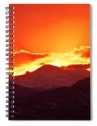 Golden Rocky Mountain Sunset Spiral Notebook