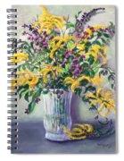 Violet And Gold Spiral Notebook