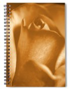 Golden Rose Bud Spiral Notebook