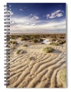 Golden Sand Lines And Seaweed Rocks Of Norfolk Spiral Notebook