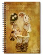 Golden Santa Card 2015 Spiral Notebook