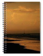Golden Sea Spiral Notebook