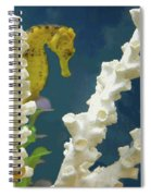Golden Seahorse Spiral Notebook