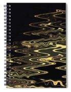 Golden Shimmers On A Dark Sea Spiral Notebook