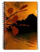 Golden Slumber Fills My Dreams. Spiral Notebook