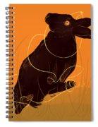 Golden Snare Spiral Notebook