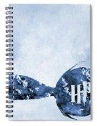 Golden Snitch-blue Spiral Notebook