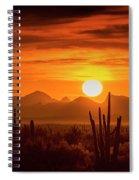 Golden Southwest Sunset  Spiral Notebook