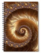 Golden Sparkling Spiral Spiral Notebook