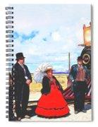 Golden Spike Railroad - Wating - 0749 G Spiral Notebook