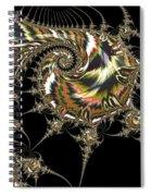 Golden Spirals And Spikes Spiral Notebook