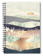 Golden Spring Reflection Spiral Notebook