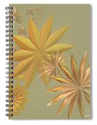 Golden Stars Spiral Notebook