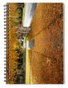 Golden Streets Spiral Notebook