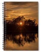 Golden Sunburst At The Lake New Jersey  Spiral Notebook