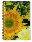 Golden Sunflower Yellow Bouquet By Kaye Menner Spiral Notebook