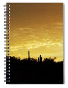 Golden Sunrise Spiral Notebook