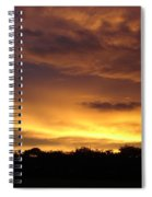 Golden Sunset 1 Spiral Notebook