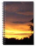 Golden Sunset 2 Spiral Notebook