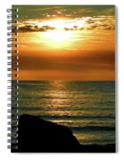 Golden Sunset At The Beach IIi Spiral Notebook