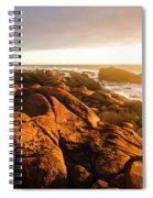 Golden Sunset Coast Spiral Notebook