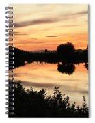Golden Sunset Reflection Spiral Notebook