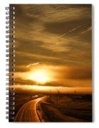 Golden Sunsets Spiral Notebook