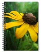 Golden Sway Spiral Notebook