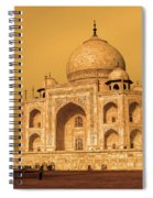 Golden Taj Mahal  Spiral Notebook
