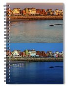Golden To Blue Hour Puerto Sherry Cadiz Spain Spiral Notebook