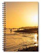 Golden Tropics Hot Beach Sun Spiral Notebook