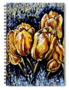 Golden Tulips Spiral Notebook