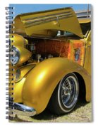 Golden Vintage Dodge Spiral Notebook