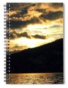 Golden Waters Spiral Notebook