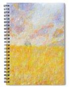 Golden Wheat Field Spiral Notebook