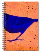 Golden Whistler Uv Spiral Notebook