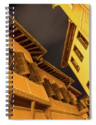 Golden Yellow Night - Chic Zigzags Of Oriel Windows And Serrated Roof Lines Spiral Notebook